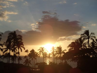 Another beautiful sunset taken from our pavilion at Ekahi