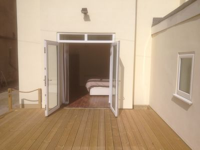 Photo for Disabled friendly ground floor apartment, wheelchair access and decking area