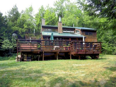 Photo for Great Windham House on 5 Private Acres; Hot Tub, Fireplace, Grill