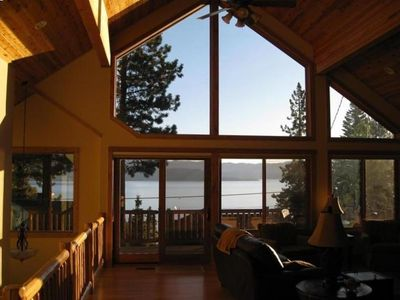 Photo for Luxury home with panoramic Lake Tahoe View; sleeps 12!