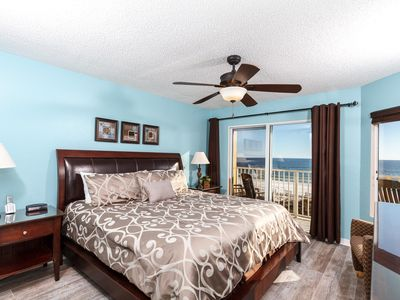 Gorgeous views from the master bedroom and an entry to the priva - Gorgeous views from the master bedroom and an entry to the private beach front balcony!