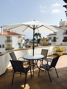 Photo for 360 degree sea view penthouse on the beach, 65 sqm roof terrace in Denia, Costa Blanca