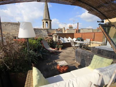 "Photo for Apartment historic center ""La Terrasse"" 1 bedroom / AC / Wifi"