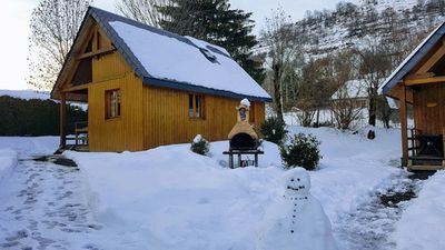 Photo for Wooden chalet in the heart of the Pyrenees