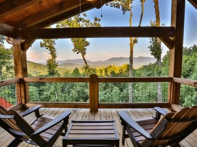 Photo for Wyman`s Way is an extravagant mountaintop lodge with panoramic postcard-like views. Non pet-friendly