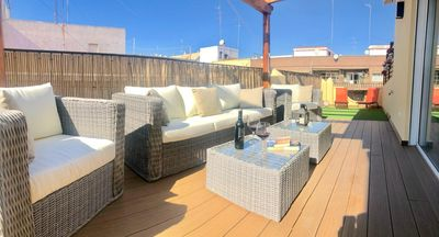 Photo for BEAUTIFUL AND BRIGHT PENTHOUSE WITH TERRACE near the Center