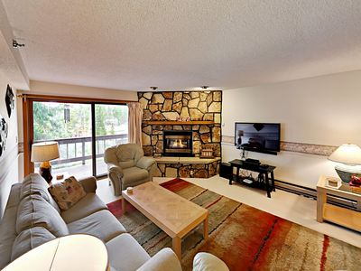 Photo for Luxury Breckenridge Condo with Fireplace and Hot Tub – Walk to Main Street