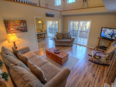 Photo for 2BR, Long Mtn Views, Wrap Around Deck, Game Tables, Firepit, Near Slopes & Attractions