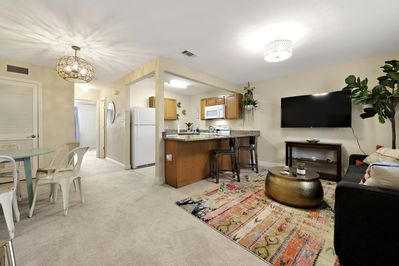 This professionally decorated retreat is an easy 3 minute walk to the