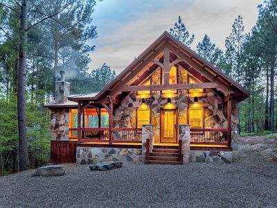 Photo for Legends Lair (Studio, Sleeps 2-4, Cozy Mountain Hideaway, Fireplaces, Hot Tub)