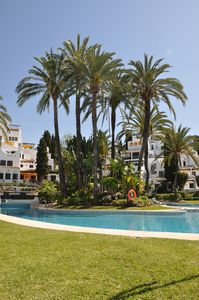 Photo for Lovely 2/3 Bed Apartment, 4 Pools, close to shops/restaurants, 15mins walk Beach