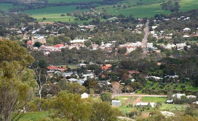 The town viewed from the Mount Brown lookout