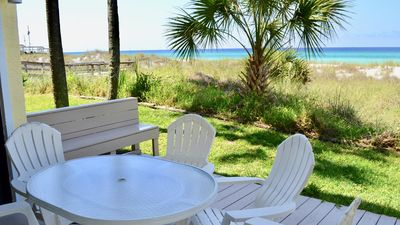 Photo for Beautiful ground floor, gulf front condo!