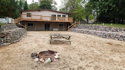 Photo for Lakefront Cottage near Sand Valley Golf Resort w/ Large Private Beach