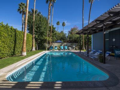 Photo for Twin Palms Pool House -Private and Hip Mid Century Twin Palms Retreat