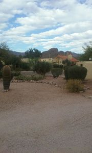 Superstition Mts. in background of community