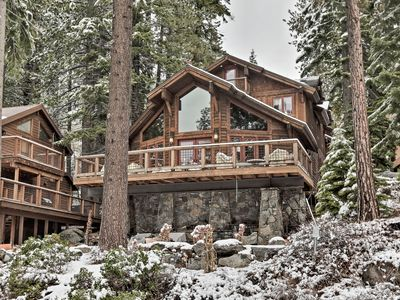 Photo for NEW! Grand Donner Lake Home w/Hot Tub, BBQ & Kayak