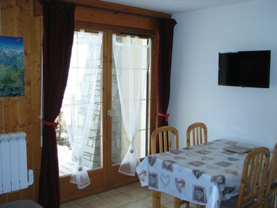 Photo for Apartment at the foot of the slopes in a recent chalet, beautiful landscape, quiet