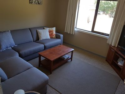 Lounge room with queen size sofa bed