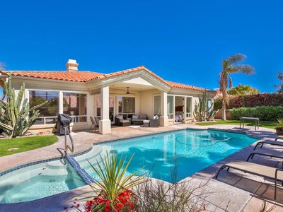 Photo for Tranquil & Spacious Oasis! Central Palm Desert Location! Salt Water Pool & Spa w/ Southern Exposure!