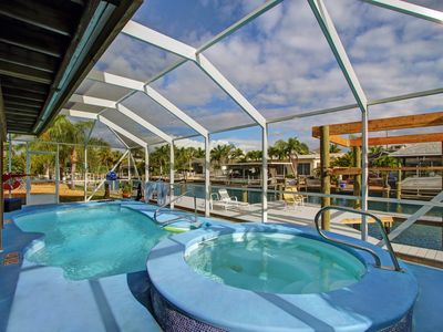 Photo for Re-Opened Relaxing, Family, heated Pool, Dogs yes, 400' from Beach, canal dock.