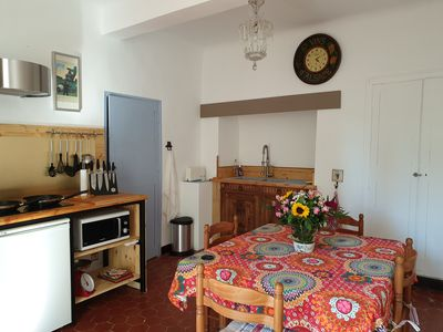 Photo for Bright 2 room apartment in the historic center of Forcalquier on the 1st floor