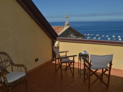 Photo for Sea view room in the village of Scilla