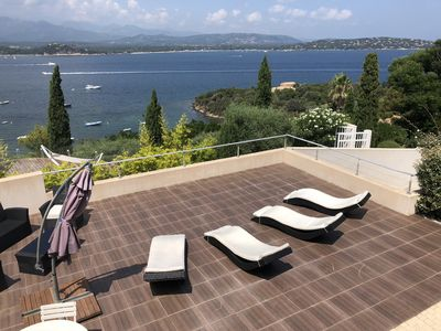 Photo for House 6 people beachfront overlooking the Gulf of Porto Vecchio