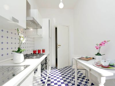 Photo for A stylish two-bedroom apartment for up to five people, less than five minutes from the Vatican City.