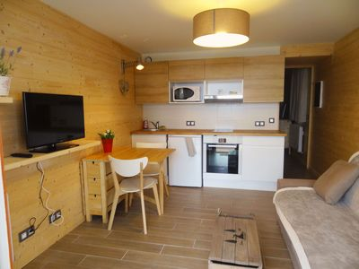 Photo for accommodation for 2 to 4 people 100m from the slopes, terrace, parking, garden