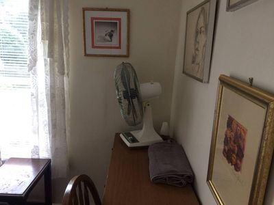 Small room in a shared house. The location is peaceful at 3500 feet.