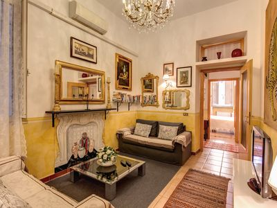 Photo for RATES ALL INCLUSIVE !! VERY CENTRAL CAMPO DEI FIORI/NAVONA  QUITE STYLISH  APT