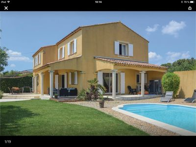 Photo for provencal villa 8 people + swimming pool view on mount Aurélien