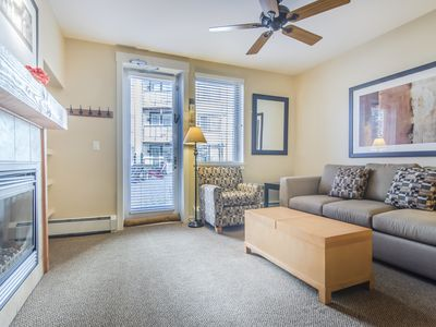 Photo for Walk to the slopes from this modern Founders Point studio condo. Sleeps 4.