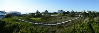 Panoramic view from deck!
