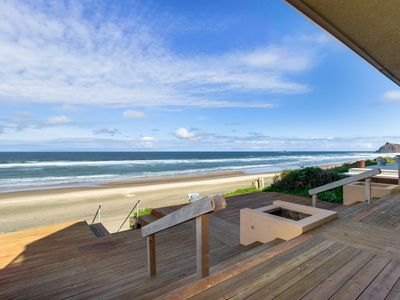 Photo for Upscale, oceanfront home with immediate beach access, large deck, free WiFi