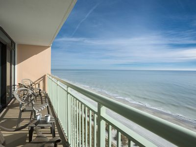 Photo for · ESCAPE FROM THE STRESS OF EVERYDAY LIFE! BEACHFRONT 3 BDRM CONDO -SPA ON SITE!