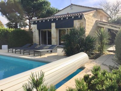 Photo for Exceptional near Bordeaux charming spa house, sauna, heated pool