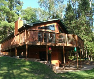 Photo for Lakefront -4 acres of private land - 6 Bedrooms - 2 kitchens - Dog Friendly!