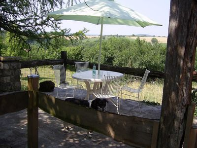 Photo for Sud Vosges: great views from the terrace, Nature + tranquility on the edge of a village