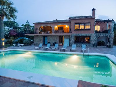 Photo for Large villa with sea views, Wifi,  AC & minutes from Javea's sand beach.