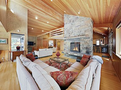 Photo for New Listing! Elegant Mountain Home w/ Hot Tub & 3 Fireplaces - Near Skiing