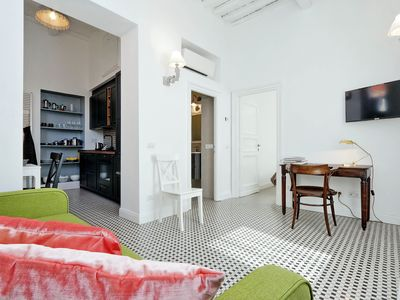 Photo for Elegant apartment for 4 in the heart of Trastevere