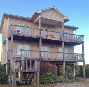Photo for Incredible Ocean and Sound Views from This Fantastic House at Topsail Beach