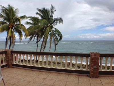 Photo for Beachfront Living  3 Bed 2 Bath sleeps 8 and just 10 minutes from Rincon Plaza!