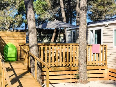 Photo for Camping Holiday Green ***** - Cottage Handi Air-conditioned PRM 3 rooms 4/6 people