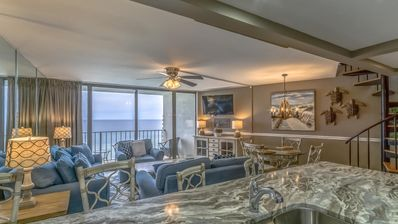 Photo for Edgewater Penthouse! Nice 2 Story Beachfront! 3 Bed 3 Bath Sleeps 8 Private Roof