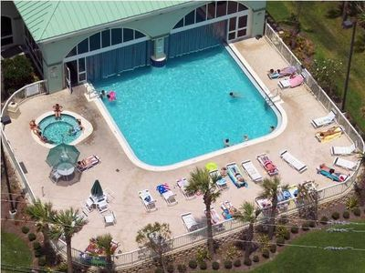 Aerial View of Incredible Indoor/Outdoor Pool