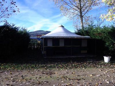 Photo for Camping Le Plô *** - Canvas Bungalow Pagoda 3 Rooms 5 People