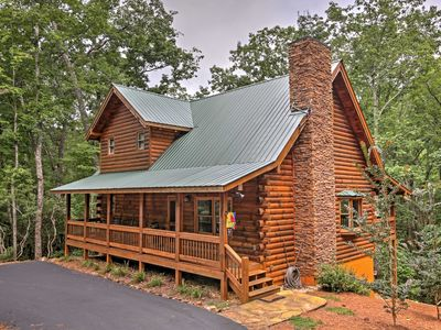 Photo for Peaceful Dahlonega Log Cabin w/ Pool Table & Deck!